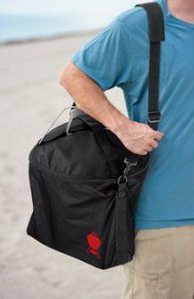 Grill on the Run with the Weber Smokey Joe Bag | Life with Grilling  This is a great way to carry your #Weber Smokey Joe anywhere you want to go including the beach, camping, or on vacation. This #grill carrying case just adds to the portability of the Weber Smokey Joe!