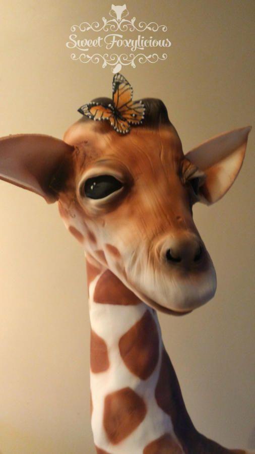 Georgie Giraffe - Cake by Sweet Foxylicious  Stunning 3D Sculpted Giraffe Cake!