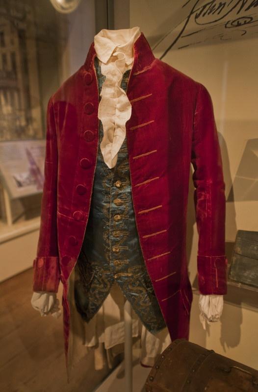 John Hancock's actual clothes. He was an actual person with actual clothes!