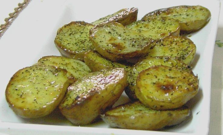 Batata assada com Chá verde