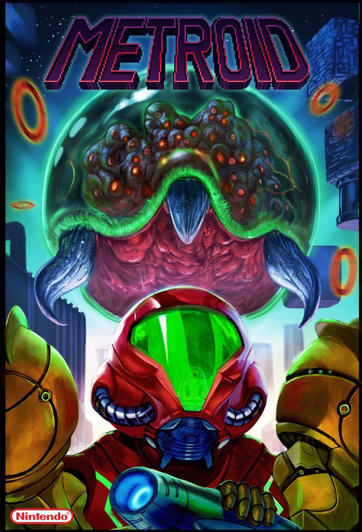 Metroid Box Cover Fanart, Dave Melvin