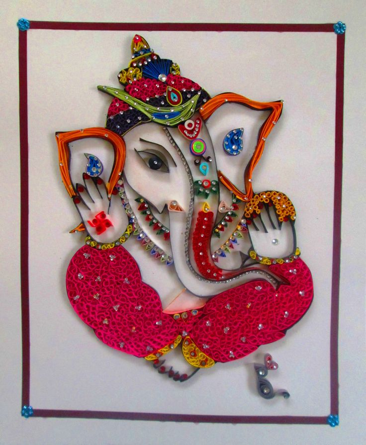 85 best Quilled Ganesha images on Pinterest   Quilling ...