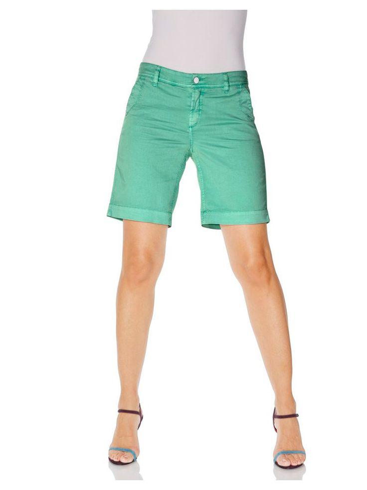 Short mi-long en jean, couleur vert menthe