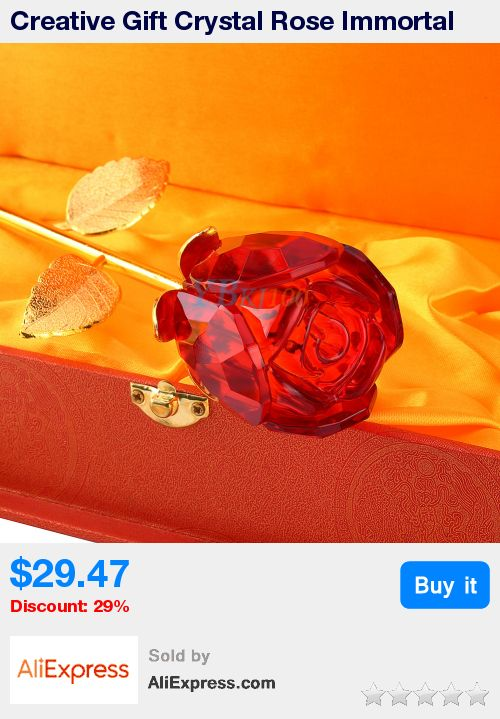 Creative Gift Crystal Rose Immortal flowers With Gift Wood Box Romantic Valentine's Gift Rose Flowers Home Wedding Decoration * Pub Date: 09:03 Apr 12 2017