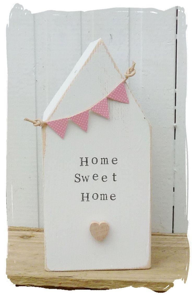 Wooden House Home Sweet Home www.bynicki.co.uk