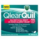 Turn to QlearQuil™ All Day and All Night 24 Hour Allergy Relief medicine. It's the non-drowsy* powerfully effective, take it only when you need it, 24 hour allergy medicine.*Non-Drowsy. From the makers of Vicks DayQuil™