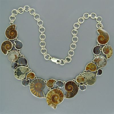 360 best ammonite jewelry images on pinterest ammonite beaded ammonite necklace aloadofball Images