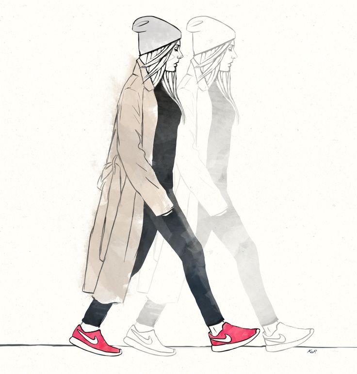 Fashion Illustration #street #fashion #illustration #nike