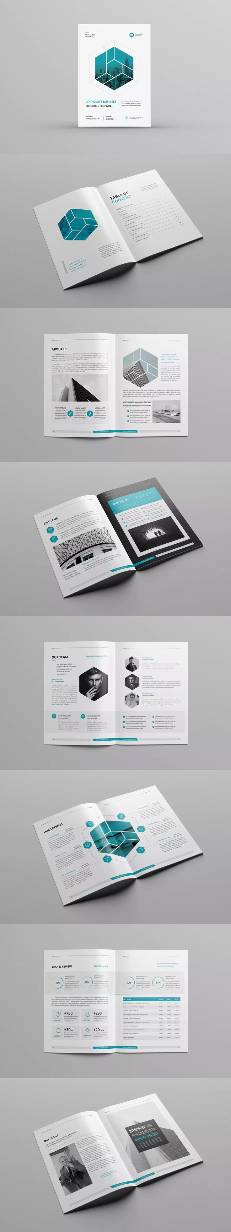 Company Profile Template InDesign INDD A4