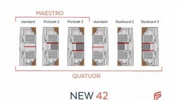 New 42 Fountaine Pajot sailing catamaran  - 12 bathrooms versions