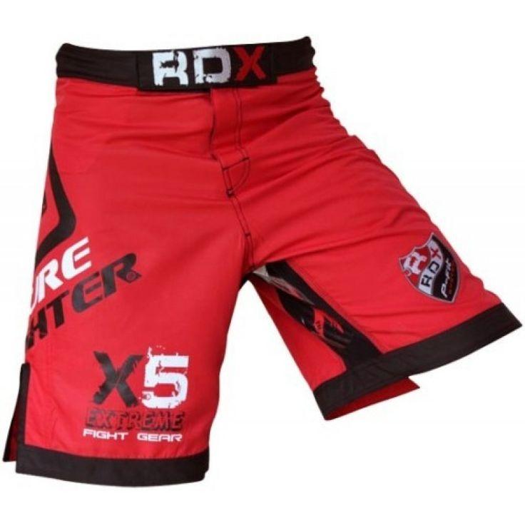 RDX Fight Shorts UFC MMA Grappling Short Kick Boxing RED