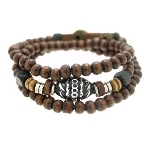 Oval Engraved Wood Beads Wrapped Bracelet Adjustable 7.5 to 8 Inches SWEETIE 8. $11.97. Beads and Charms are not removable. Adjustable from 7.5 inches to 8 inches. Comes with Gift Box and Polishing Cloth. Trendy bracelets great for gifts
