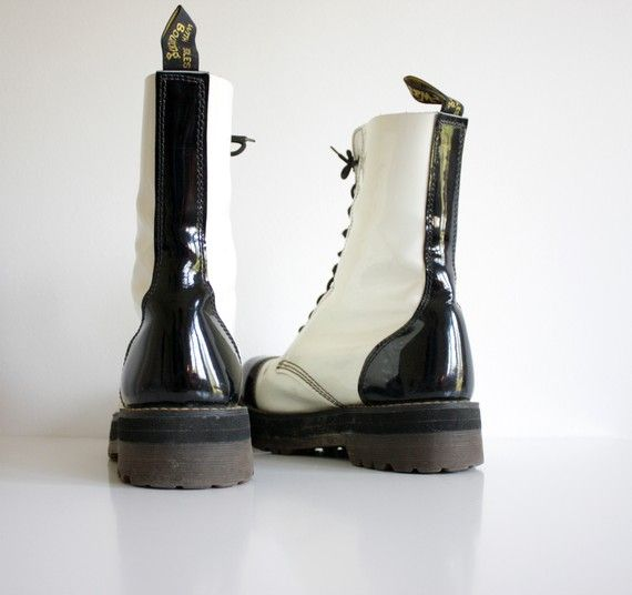 Black and white Doc Martens