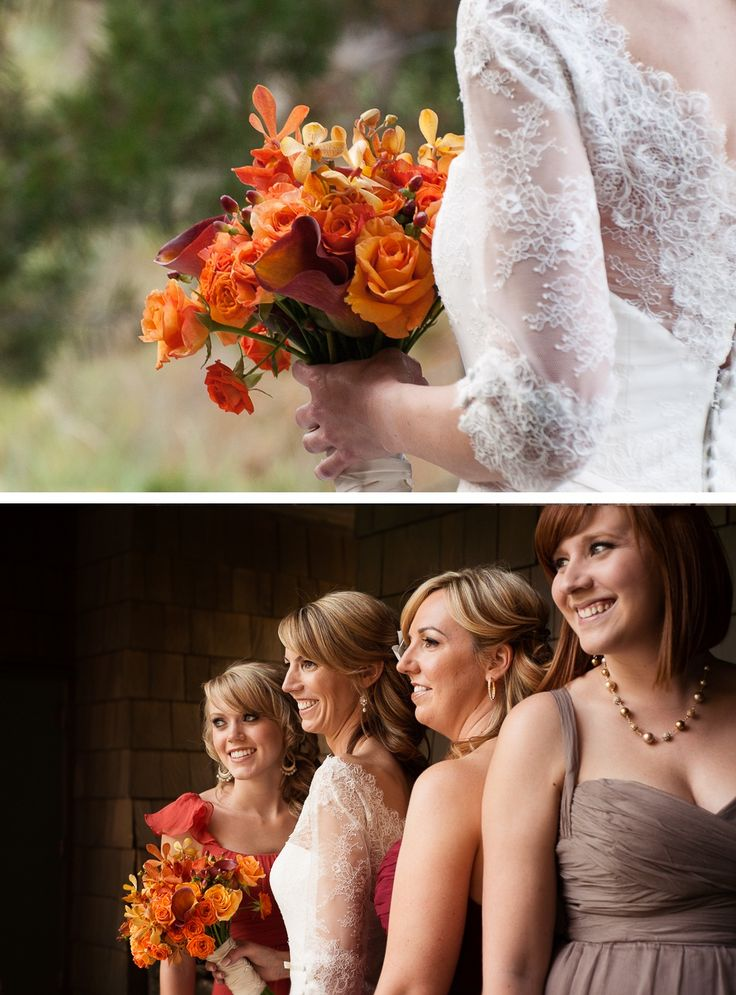 Lake Tahoe wine themed wedding with fall colors Boat neckline lace for my dress :)