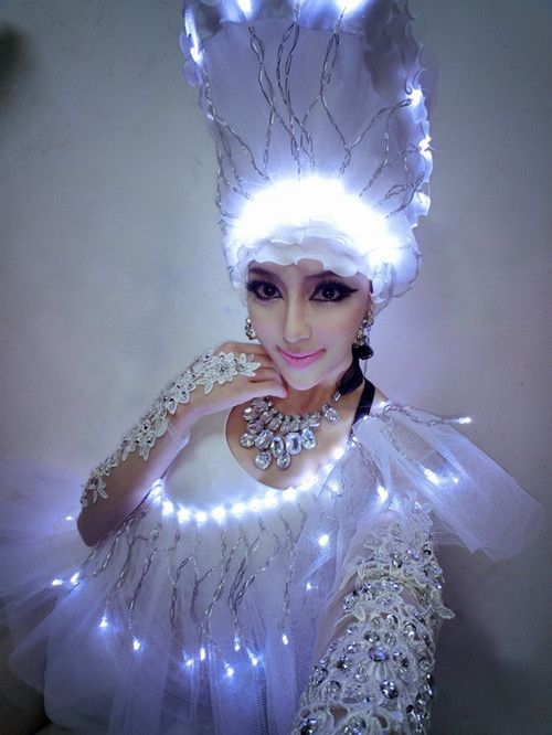 156 best light up costumes images on pinterest carnivals ds costumes full led flasher luxury costume ds white one piece dress tulle solutioingenieria Gallery