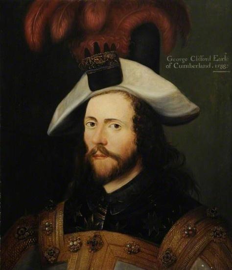 George Clifford, Earl of Cumberland - 1588 by Nicholas ...