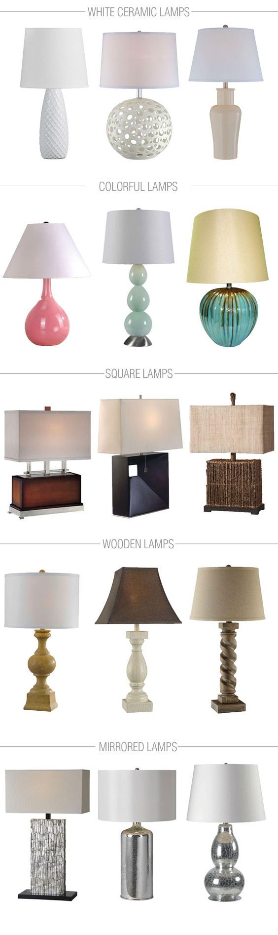 Table lamps are so versatile and bring both function and drama to a room. Here are 15 of our favorite options. Which one do you like best?: