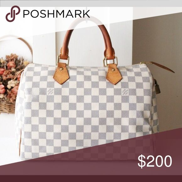 ISO Louis Vuitton white checkered bag Looking to trade ANYTHING for this bag! Louis Vuitton Bags