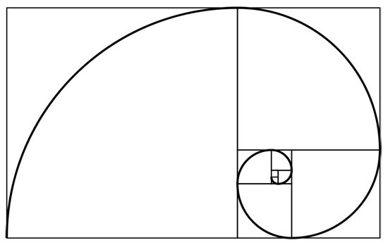 The Divine Proportion (also known as the Golden Ratio, Golden Spiral, Fibonacci Spiral, Golden Rectangle, or Phi) is approximately 1:1.618. It's a ratio that is found throughout the natural world in the proportion of various things to one another. Placing elements along the lines created by the Divine Proportion