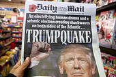 London, UK. 10th Nov, 2016. Front cover of Daily Mail. British newspapers reaction to the US presidential election - Stock Photo