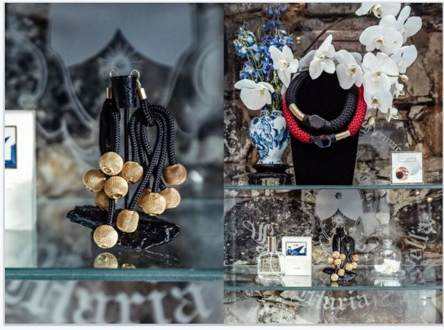 Lindiwe Earrings and Voluttuoso Neckpiece, Buy online: www.pichulik.com/shop