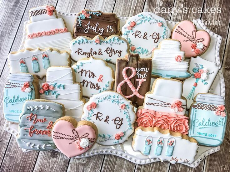 Wedding cookies. When I have a huge set like this one, with dozens of different designs, it's hard to make my signature platter photo that really captures the feeling of the set. I think this is pretty close, though
