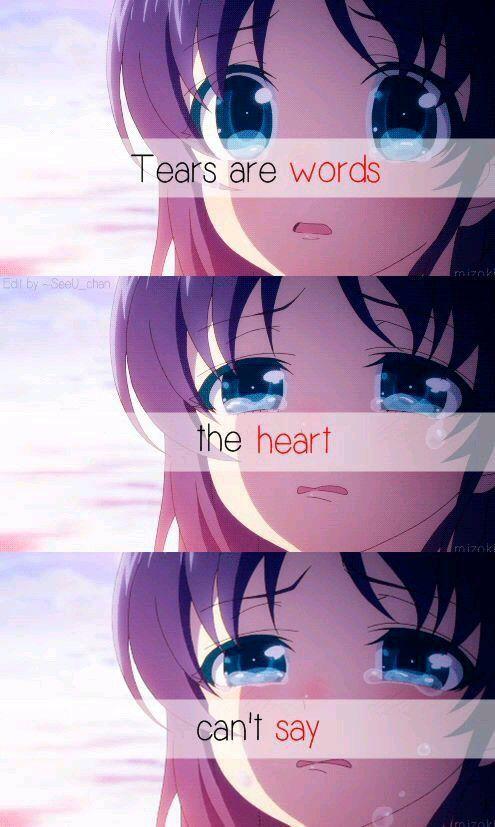 54 best anime quotes (broken ,sad ,hurt) images on Pinterest ...