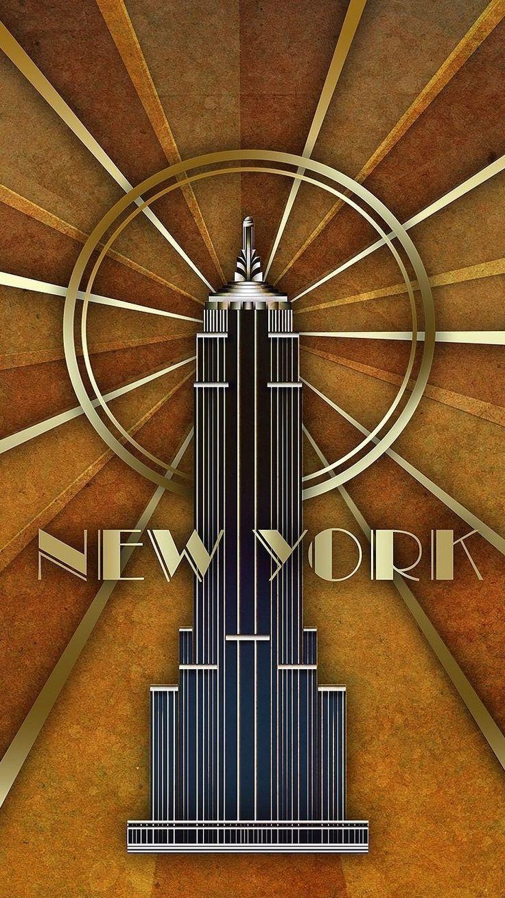 New York art deco poster