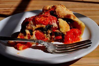 Cherry Tomato & Kale Pie - Farmgirl Gourmet