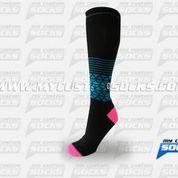 Socks designed by My Custom Socks for Q.Designs Footwear in Los Angeles, CA. High knee socks made with Coolmax fabric. #Multisport custom socks - free quote! ////// Calcetas diseñadas por My Custom Socks para Q.Designs Footwear en Los Angeles, CA. Calcetas de altura a la rodilla hechas con tela Coolmax. #Multideporte calcetas personalizadas - cotización gratis! www.mycustomsocks.com
