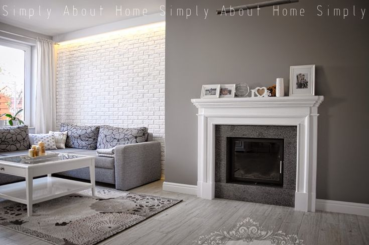 simply about home:  white / grey / black / livingroom