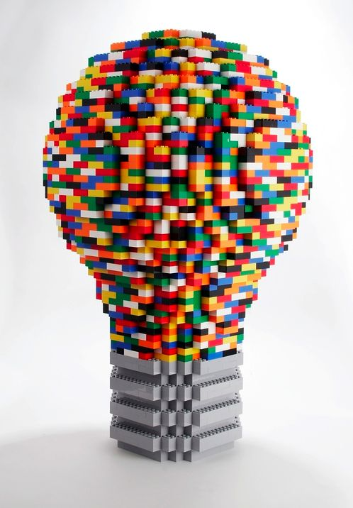 Lego Lightbulb.... Bright ideas start here. Inspire you kids to imagine it and then build it!