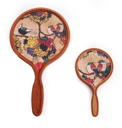 hand mirror, hanji, twist paper  www.ye-ga.com