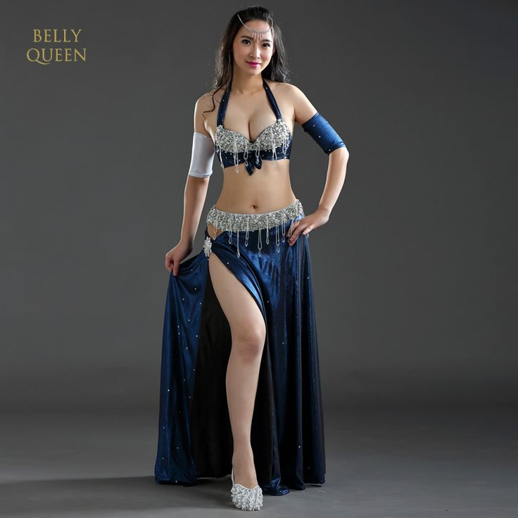 Details about  /One-piece Dress See-through Lace Long Skirt Belly Dance Costumes Dancewear BU