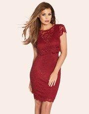 Jess Wright 2 In 1 Lace Overlay Dress - Lipsy
