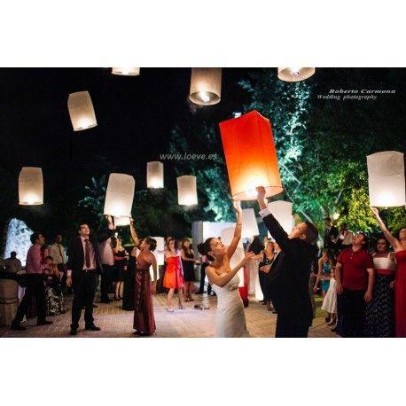 farolillos voladores , linternas del cielo, globos chinos