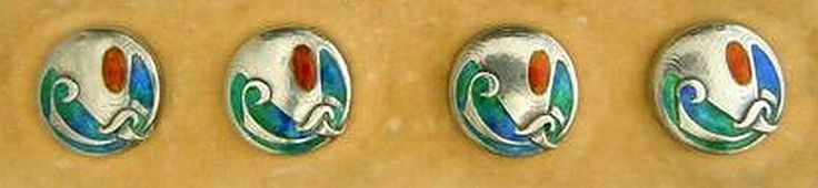Cymric Silver & Enamel Buttons - Archibald Knox for Liberty & Co 1904