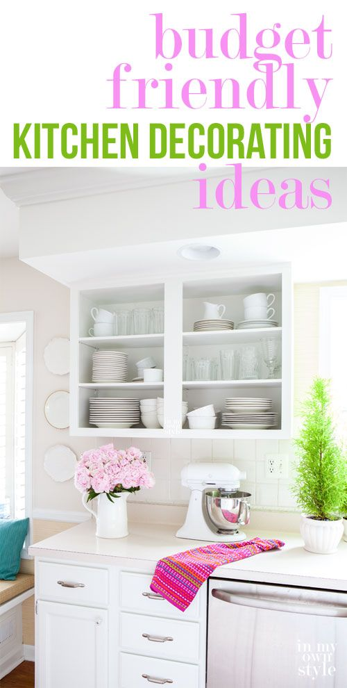How to paint laminate kitchen cabinets and other budget friendly ideas for decorating your kitchen .