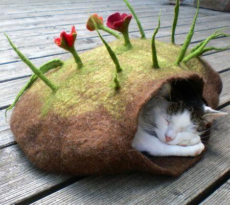 Cama de Fieltro para gatos