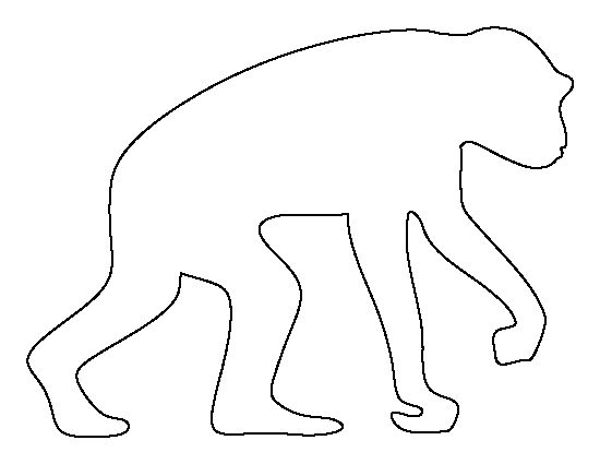 chimpanzee pattern  use the printable outline for crafts  creating stencils  scrapbooking  and
