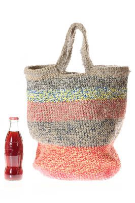 f8c0329380 shopper bag in linen and cotton with horizontal multicolor melange lines - DANIELA  GREGIS | gregis borse | Pinterest | Bags, Shopper bag e Tote Bag