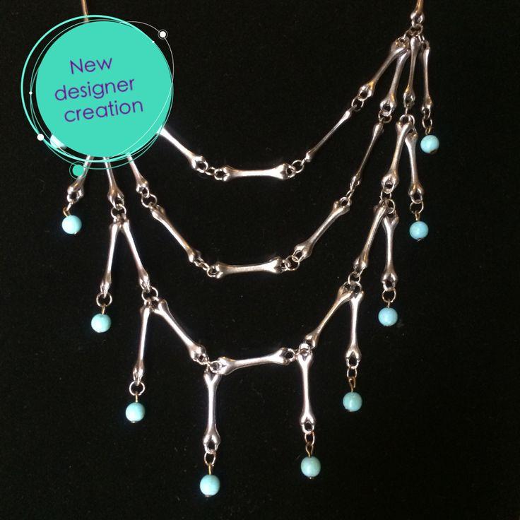 Bone statement necklace