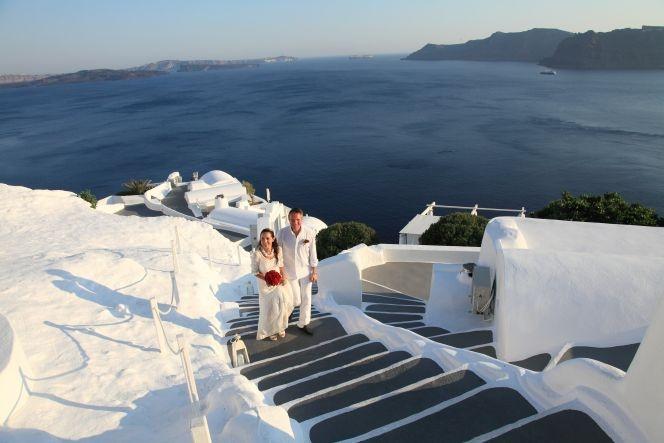 #wedding at #Katikies Hotel #Santorini by StellaAndMoscha.com