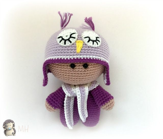 doll with owl hat - ( will need to translate to english ) free pattern