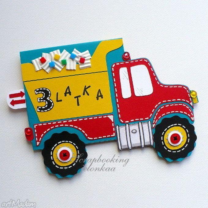 Urodzinowe autko kartka dla dziecka jelonkaa urodziny auto