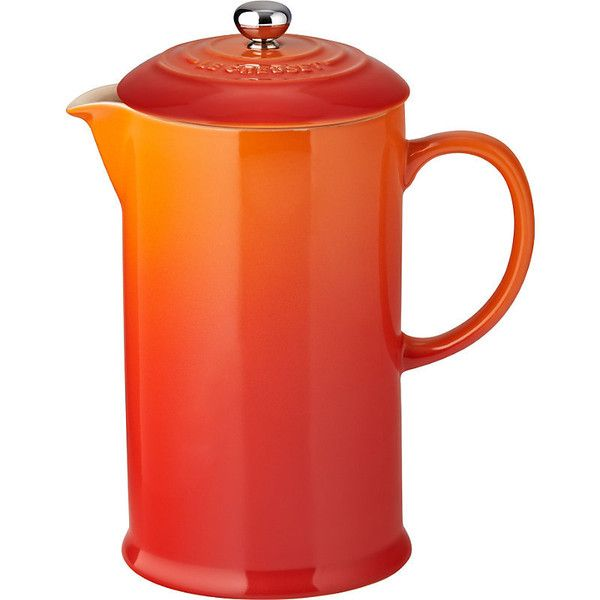 Le Creuset Stoneware cafetiere found on Polyvore featuring home, kitchen & dining, kitchen gadgets & tools, le creuset, le creuset stoneware, coffee press pot, stoneware french press and french coffee press