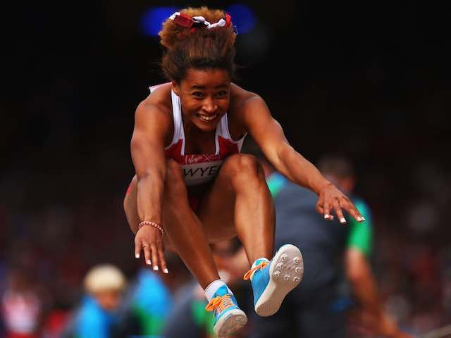 Result: Tianna Bartoletta wins women's long jump as Jazmin Sawyers finishes in eighth