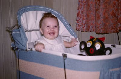 Me As A Baby With A Blinky Winky Toy