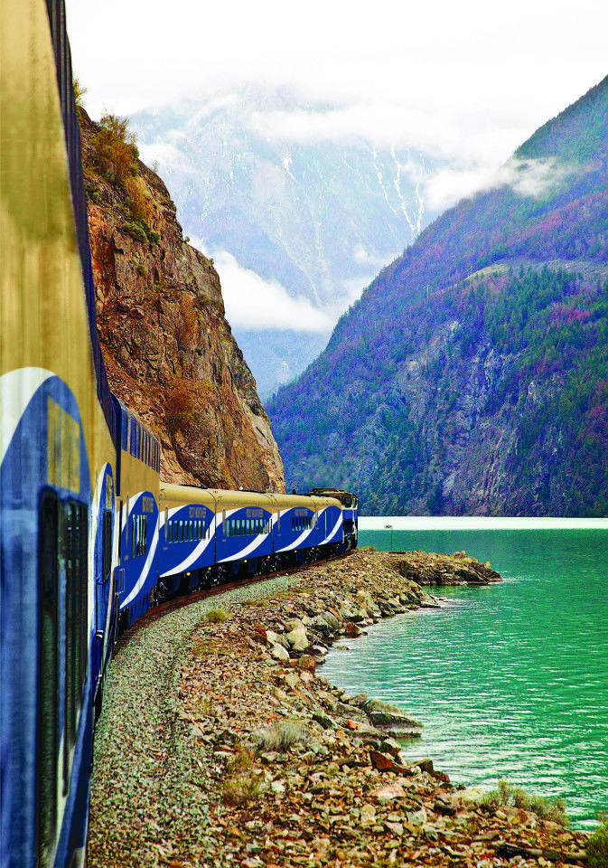 This is definitely on my travel bucket list! Just check out that view. #travel #train #canada
