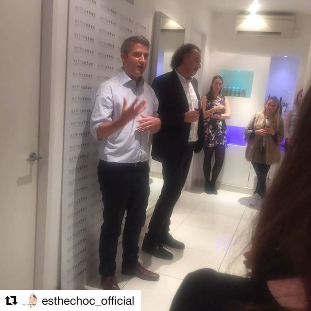 #Repost @esthechoc_official with @repostapp ・・・ Marek Orlowski, CEO and William George, COO talking about science behind #esthechoc - world's first #nutricosmetic with a strong, scientifically proven impact on the metabolism of #aging #skin. #esthechoc #blogger event at @d.Thomas.clinic  #NationalChocolateWeek #bblogger #blog  Yummery - best recipes. Follow Us! #nationalchocolateweek